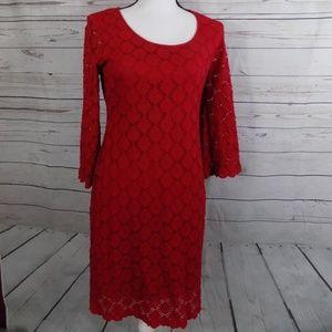 Ronni Nicole Dresses - NWT Ronni Nicole bright red lace dress size 8